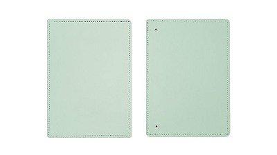 Capa e Contracapa Média Verde Pastel