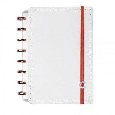 Caderno Inteligente Branco com Discos Rosé Grande