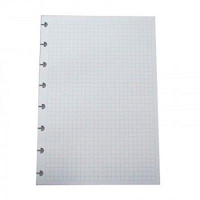Refil Pautado Quadriculado A5 Caderno Inteligente