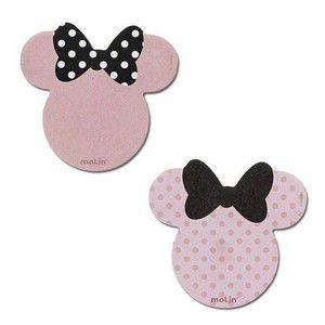 Bloco Notas Adesivas Nude Minnie Mouse