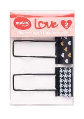 Binder Preto Decorativo Multifuncional Love 25mm