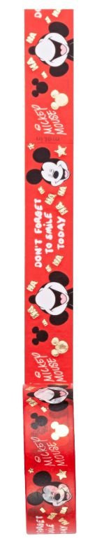 Fita Adesiva Washi Tape Mickey Mouse Vermelha