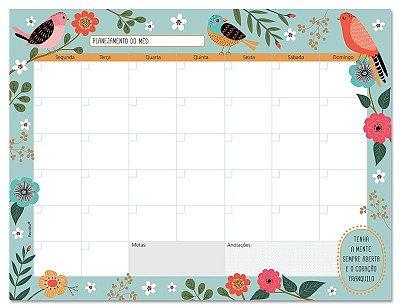 Planner Semanal em Bloco Pássaros
