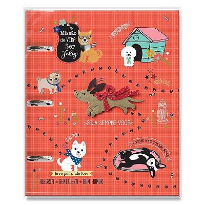 Caderno Fichário 3 Furos Cachorro