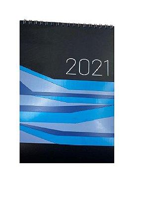 Calendário de Mesa Azul 2021