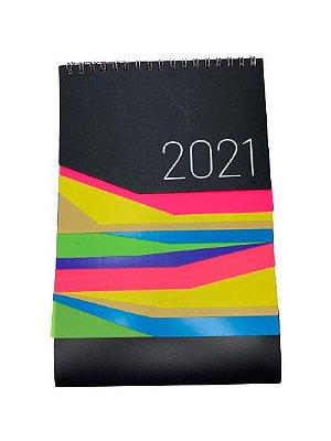 Calendário de Mesa Colorido 2021