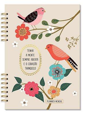 Planner Mensal Compacto Pássaros