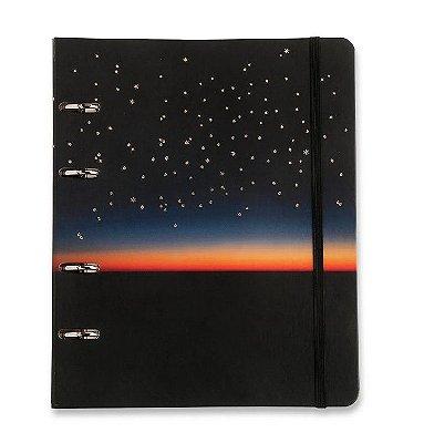 Caderno Fichário 4 Furos Por do Sol