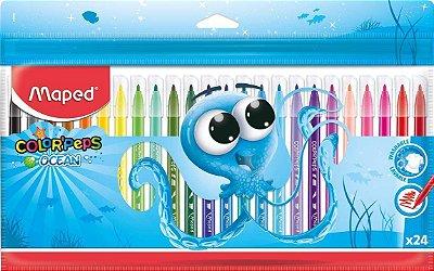 Canetinhas Hidrocor Color' Peps Ocean 24 Cores