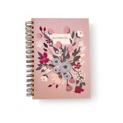 Caderno Espiral Rosa Floral P