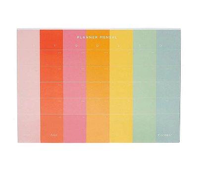 Planner em Bloco Mensal A4 Colorido