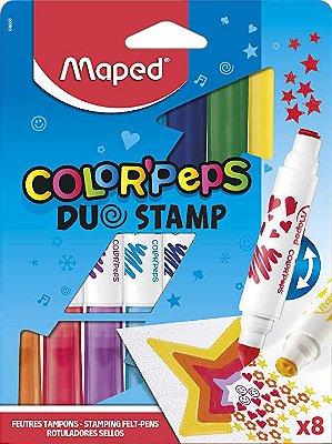 Conjunto de Canetas Hidrográficas Color'Peps Duo Stamp