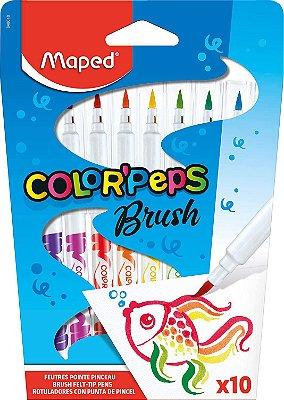 Conjunto de Caneta Hidrográfica Brush Color'Peps
