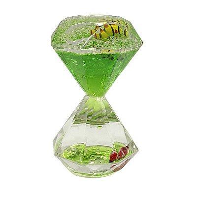 Ampulheta Decorativa Verde Peixinho