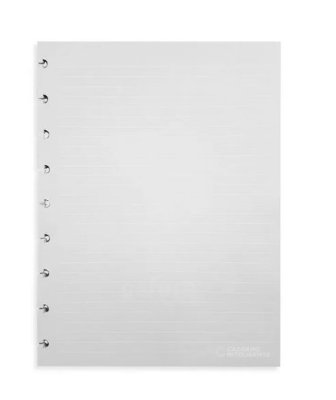 Refil Caderno Inteligente Pautado Linhas Brancas Grande