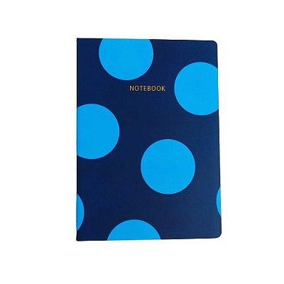 Brochura Pautada Azul Poá Grande