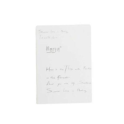 Brochura Pautada Branca Frases