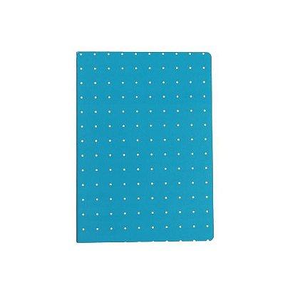 Brochura Pautada Grande Azul Poá