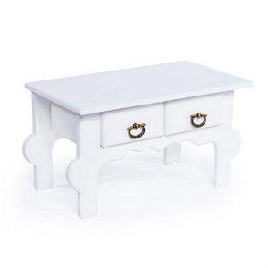 Mini Gaveteiro Colonial 2 Gavetas Branco
