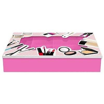 Caixa de Maquiagem Poá Rosa