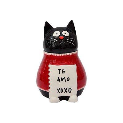 Cofre Gatinho Love Porcelana