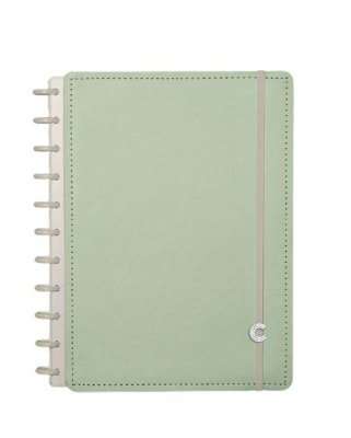 Caderno Inteligente Verde Pastel Grande