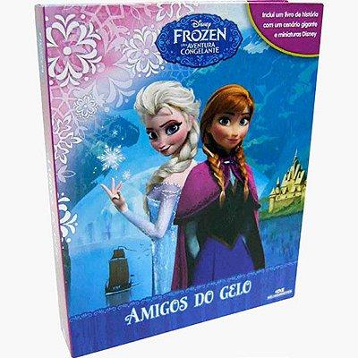 Livro Frozen, Amigos do Gelo com Cenário e Miniaturas