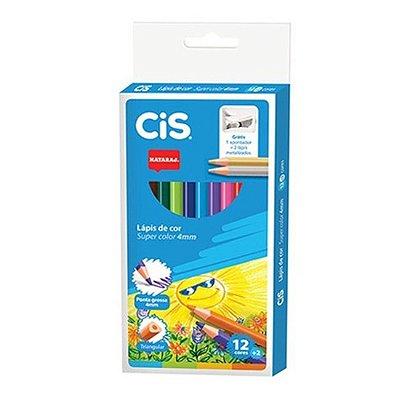 Lápis de Cor com Apontador - 12 + 2 Cores