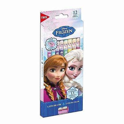 Lápis de Cor 12 Cores com Apontador - Frozen