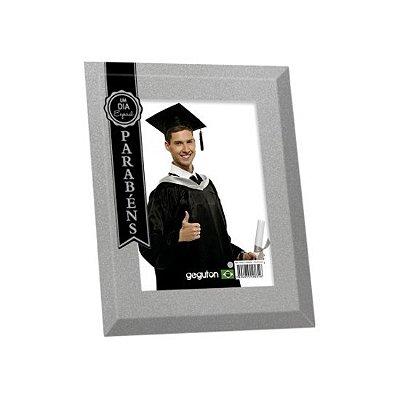 Porta-Retrato Formatura Um Dia Especial Prata/Preto