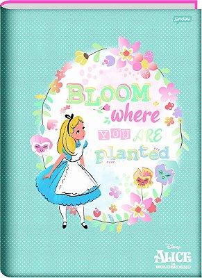 Caderno Brochura Alice no País das Maravilhas Azul