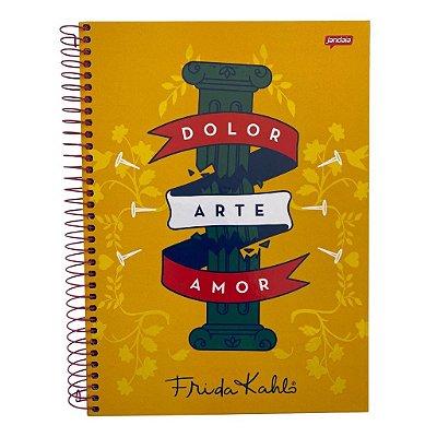 Caderno Espiral Médio Frida Dolor Arte Amor