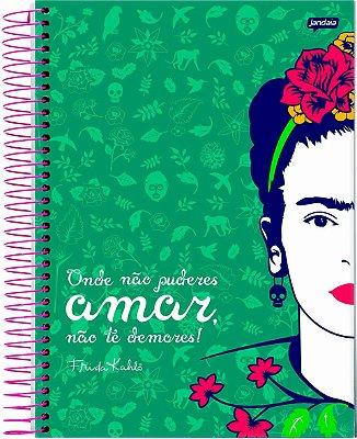 Caderno Espiral 10 Matérias Médio Frida Kahlo