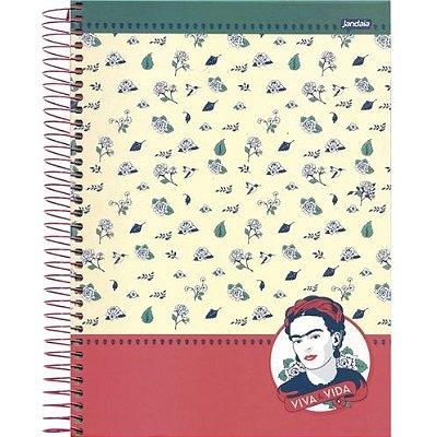 Caderno Espiral 10 Matérias Médio Frida Viva la Vida