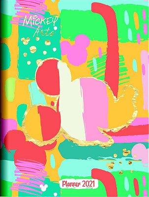 Planner Mensal Brochura Mickey Arts Colorido