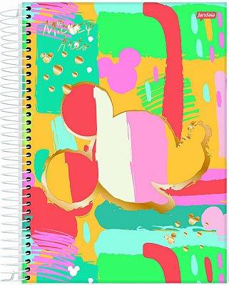 Caderno Espiral 1 Matéria Mickey Arts Colorido