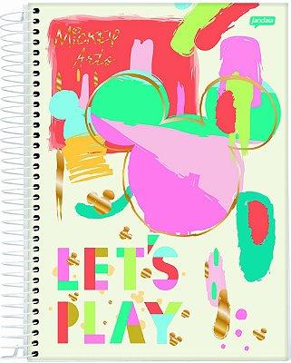 Caderno Espiral 1 Matéria Mickey Arts Creme