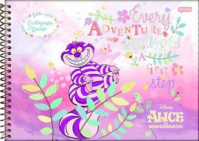 Caderno Cartografia e Desenho Alice no País das Maravilhas- Gato