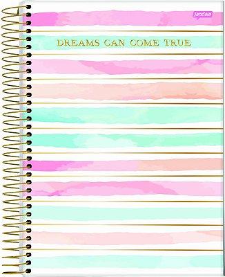 Caderno Espiral 10 Matérias La Creme Dreams