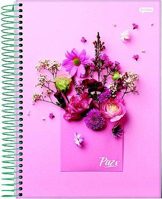 Caderno Universitário Espiral 10 Matérias Flores