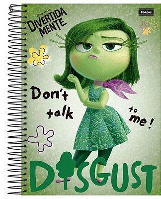 Caderno DivertidaMente Verde 200 Folhas