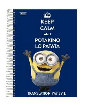 Caderno Minions Bob 200 Folhas