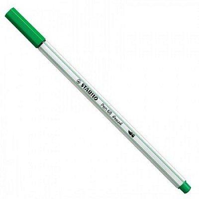 Caneta Stabilo Brush Pen 68/36 Verde Olivia