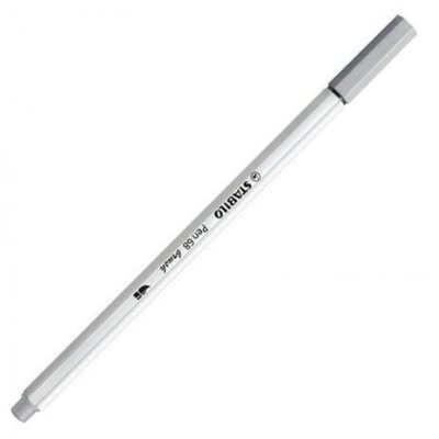 Caneta Stabilo Brush Pen 68/95 Cinza