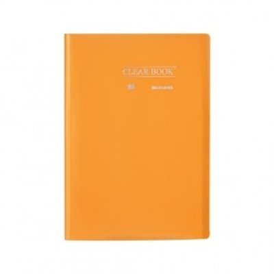 Pasta Catálogo ClearBook 20 folhas A4 Laranja