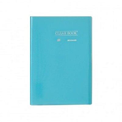 Pasta Catálogo ClearBook 20 folhas A4 Azul