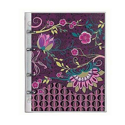 Caderno Fichário PVC Botanical Lilás