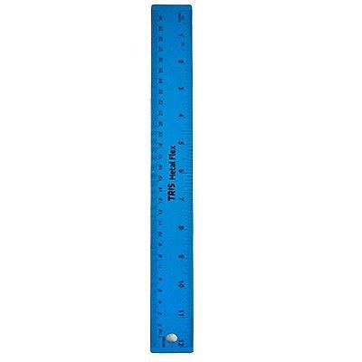 Régua Metal Flexível Azul