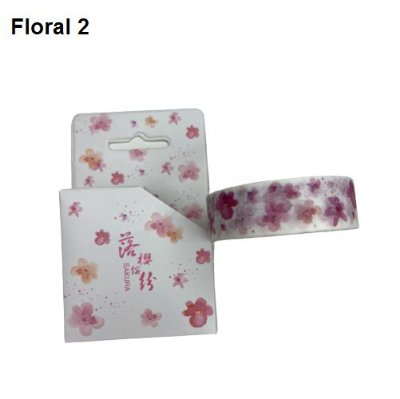 Washi Tape Floral Rosa