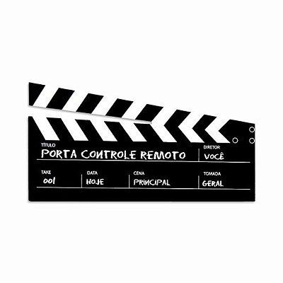 Porta Controle Cinema Preto